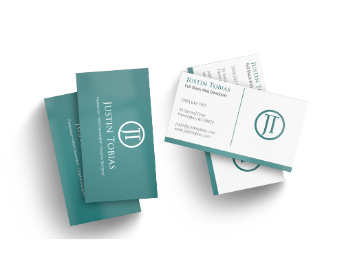 Portfolio of justin tobias mockup of a business card for justin tobias colourmoves